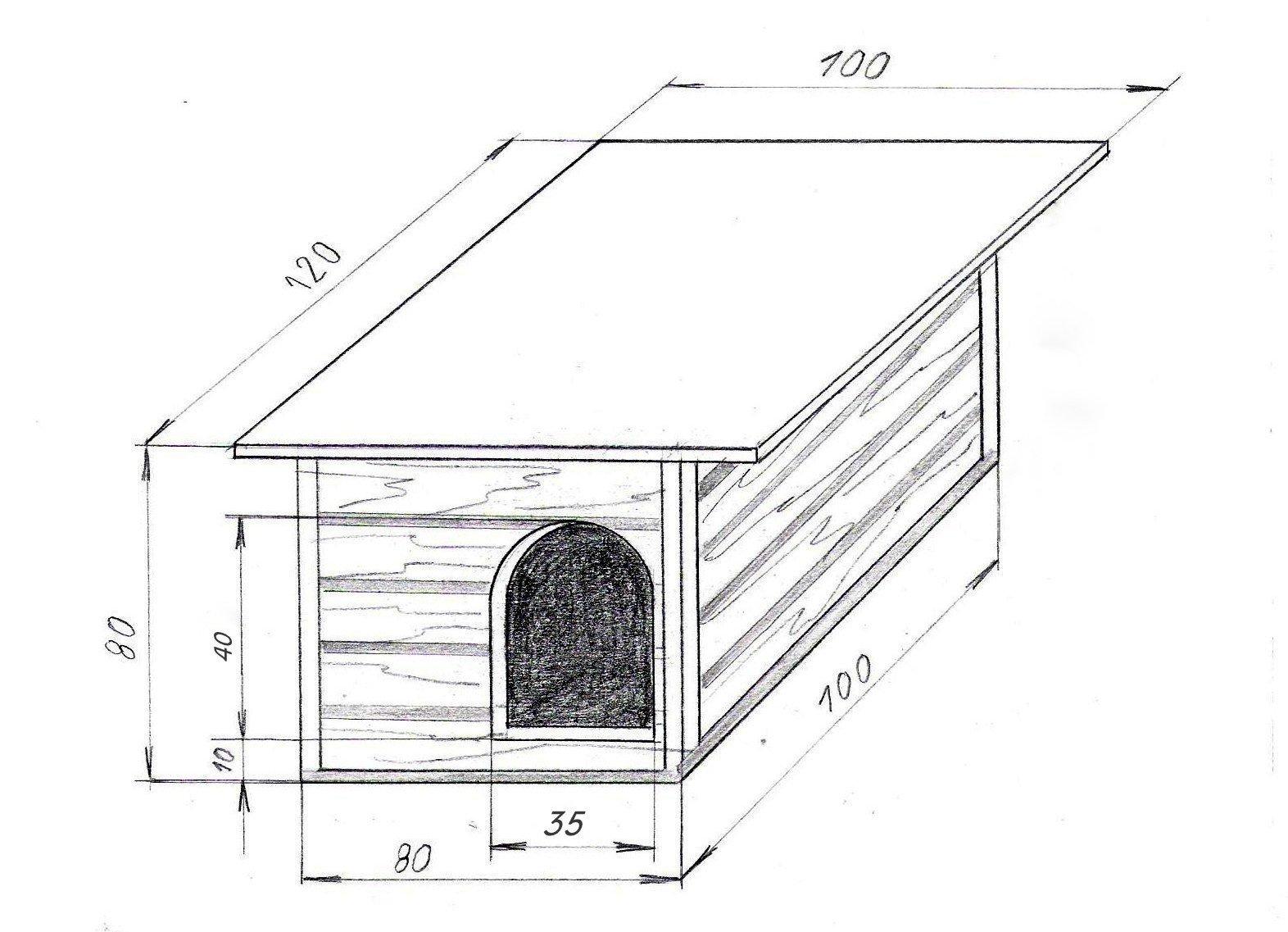 чертеж собачьей будки